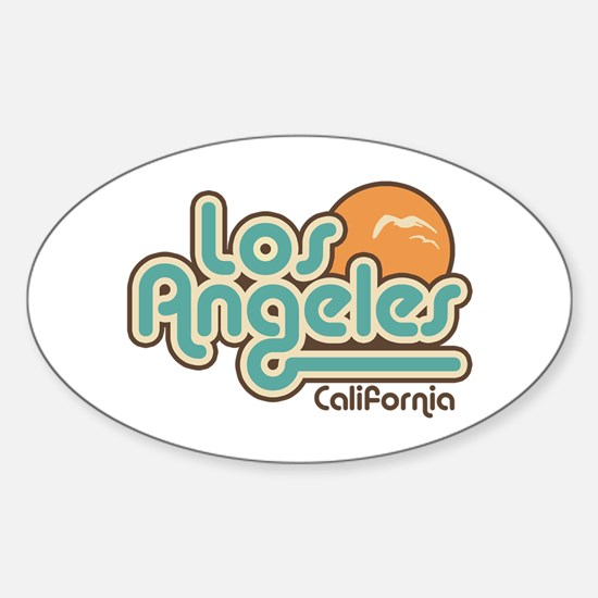 Los Angeles California Oval Decal