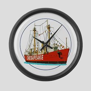 The Lightship Chesapeake Large Wall Clock