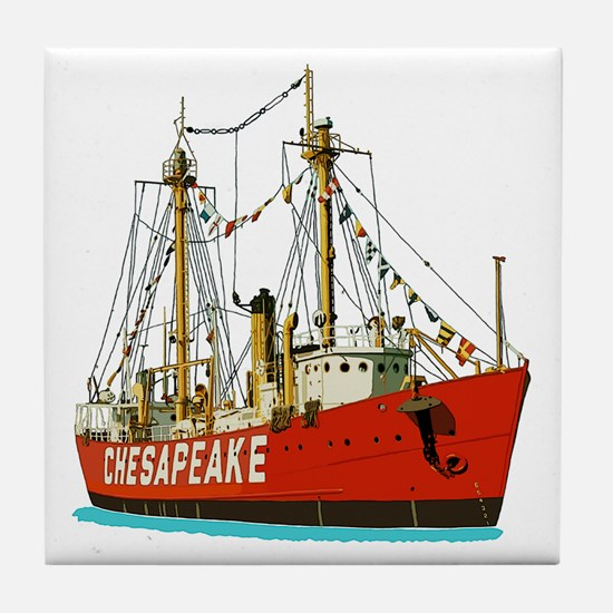 Funny Lady maryland sailing ship Tile Coaster