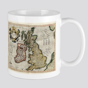 Vintage Map of The British Isles (1596) Mugs