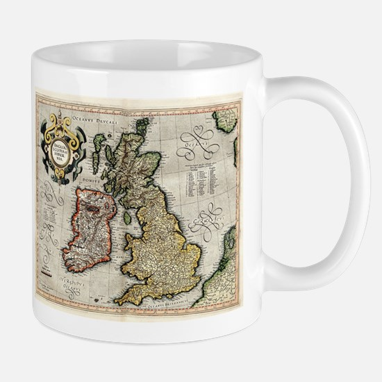 Vintage Map of The British Isles (1596) Mugs