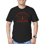 Blood Donors Save Lives Men's Fitted T-Shirt (dark