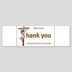 Dear Jesus Bumper Sticker