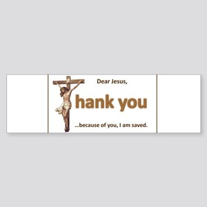 Dear Jesus Bumper Sticker