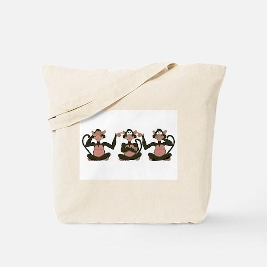 3 Monkeys! Tote Bag