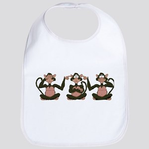 3 Monkeys! Bib