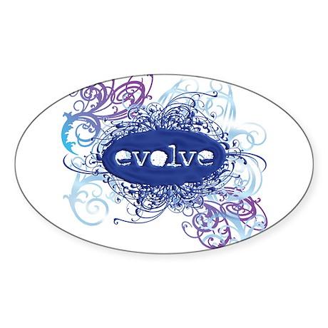 evolve Oval Sticker