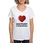 Love History Centers Women's V-Neck T-Shirt
