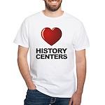 Love History Centers White T-Shirt