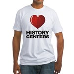 Love History Centers Fitted T-Shirt