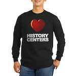Love History Centers Long Sleeve Dark T-Shirt