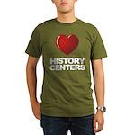 Love History Centers Organic Men's T-Shirt (dark)