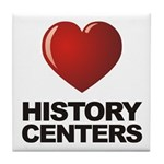 Love History Centers Tile Coaster