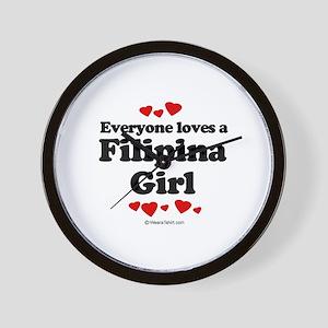 Everybody loves a Filipina Girl ~  Wall Clock