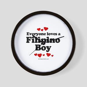 Everybody loves a Filipino Boy ~  Wall Clock
