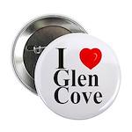 """I Love Glen Cove 2.25"""" Button"""
