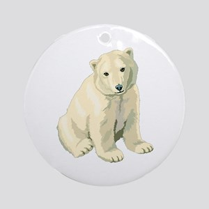 Polar Bear Cub! Ornament (Round)