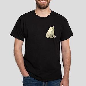 Polar Bear Cub! Black T-Shirt