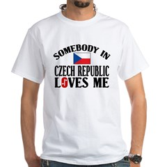 Somebody In Czech Republic White T-Shirt