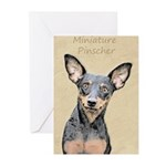 Miniature Pinscher Greeting Cards (Pk of 10)