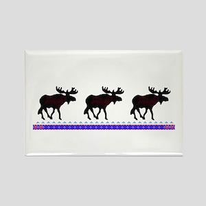 3 Moose Rectangle Magnet