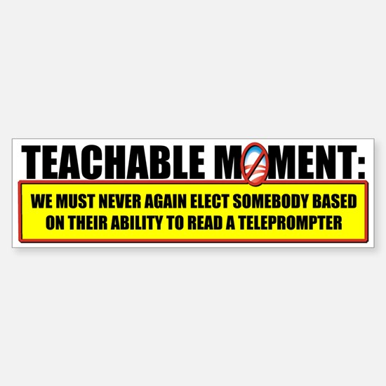 Teachable Moment Bumper Car Car Sticker