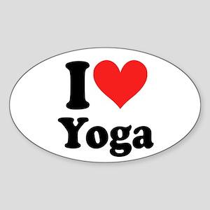I Heart Yoga: Oval Sticker