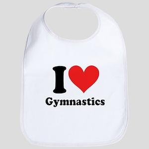 I heart Gymnastics: Bib