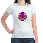 Purple with gold laurel Jr. Ringer T-Shirt