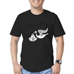 Expecting Men's Fitted T-Shirt (dark)