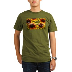 Mommy To Be (Floral) Organic Men's T-Shirt (dark)