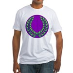 Purple with green laurel Fitted T-Shirt