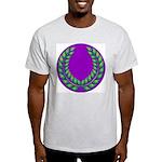 Purple with green laurel Ash Grey T-Shirt