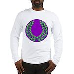 Purple with green laurel Long Sleeve T-Shirt