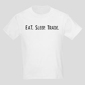Eat, Sleep, Trade Kids T-Shirt