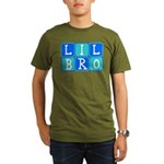 Lil Bro (Blue/Green) Organic Men's T-Shirt (dark)