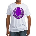 Purple with silver laurel Fitted T-Shirt