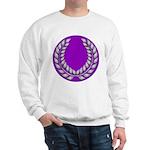 Purple with silver laurel Sweatshirt