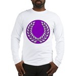Purple with silver laurel Long Sleeve T-Shirt