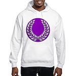 Purple with silver laurel Hooded Sweatshirt