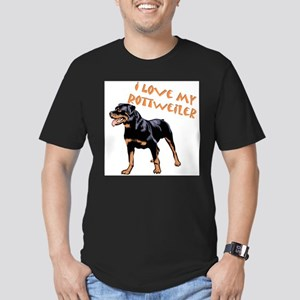 Rottweiler Men's Fitted T-Shirt (dark)