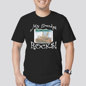 My Grandpa ROCKS Men's Fitted T-Shirt (dark)