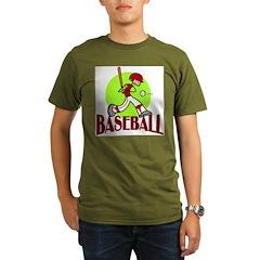Baseball Organic Men's T-Shirt (dark)