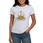 Golden Winged Guitar Women's T-Shirt
