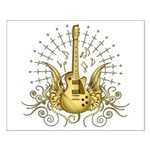 Golden Winged Guitar Small Poster