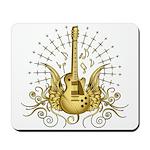 Golden Winged Guitar Mousepad