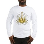 Golden Winged Guitar Long Sleeve T-Shirt