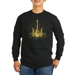 Golden Winged Guitar Long Sleeve Dark T-Shirt