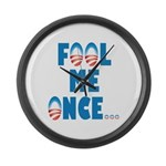Fool Me Once... Large Wall Clock