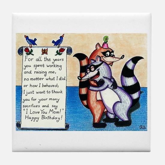 I Love You Mom! Tile Coaster
